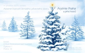 Pozvánka adventní koncert Arytmie Praha
